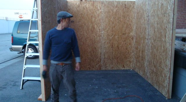 """<!--:en-->We are building special """"hand-made"""" plywood walls now!<!--:-->"""
