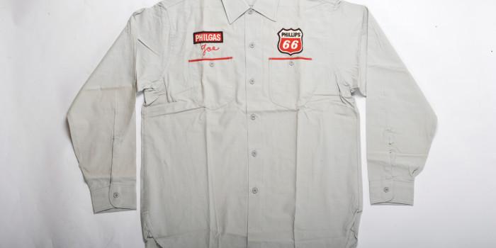 """<!--:en-->Vintage Auction File 18: Lee Embroidered Worker's Shirt """"Phillips 66""""<!--:-->"""