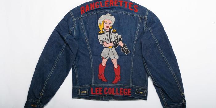 """<!--:en-->Vintage Auction File 20: Embroidered Lee 101-J Jacket """"Ranglerettes Lee College"""" <!--:-->"""