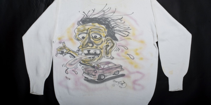 "<!--:en-->Vintage Auction File 38: Hand-Painted Hot-Rod Sweatshirt ""Gene""<!--:-->"