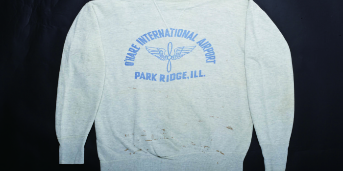 "Vintage Auction File 40: Front V Military Sweatshirt ""O'Hare International Airport"""