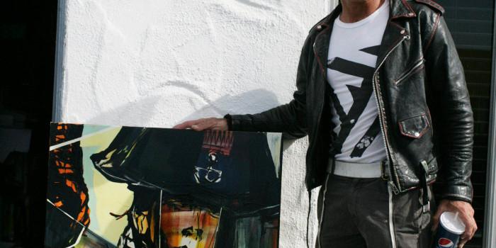 "Save Fukushima Charity Art Sale #1 ""Commander"" by Brian Bent $1000"