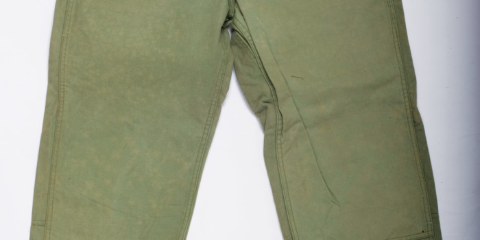 """<!--:en-->Vintage Auction File 33: Khaki Military """"Water Repellant"""" Canvas Trousers by Pay Day <!--:-->"""