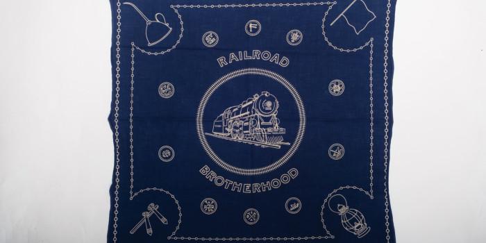 """<!--:en-->Vintage Auction File 26: Cotton Bandana """"Railroad Brotherhood"""" <!--:-->"""