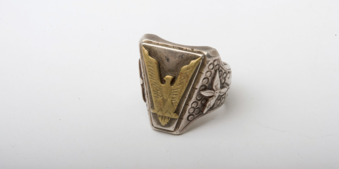 "Vintage Auction File 37: Native-Indian Motif Silver Ring ""Eagle"""