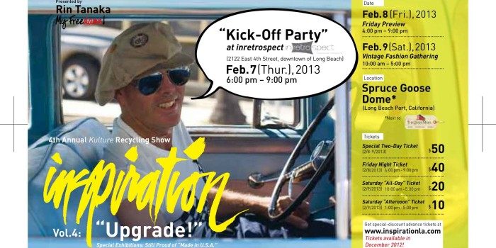 Kick Off Party at Inretrospect (4th St of LOng Beach) on 6-9pm of 2/7!!