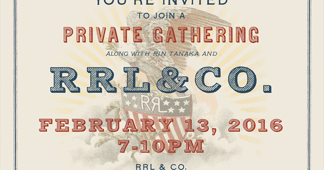 AFTER PARTY at RRL Melrose on 2/13 7-10pm
