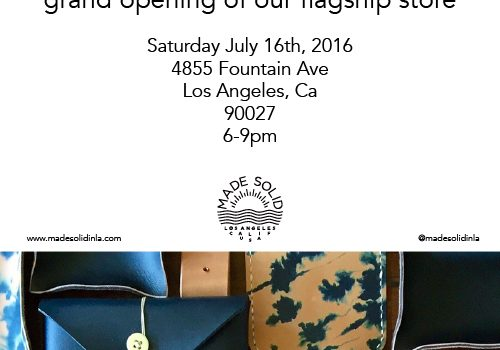 Made Solid having opening party tomorrow 7/16  6-9pm!!