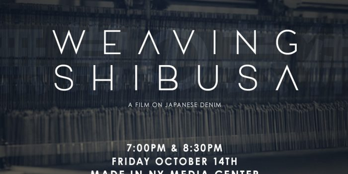 "Movie ""Weaving Shibusa"" by Self Edge, Preview at Made in NY Media Center in Brooklyn NY 7:00-8:30pm on 10/14"