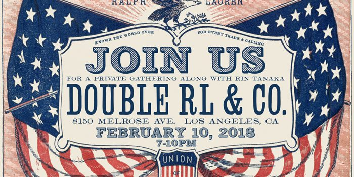 "RRL Melrose will have an ""AFTER"" party for us on 2/10 7-10pm!!"