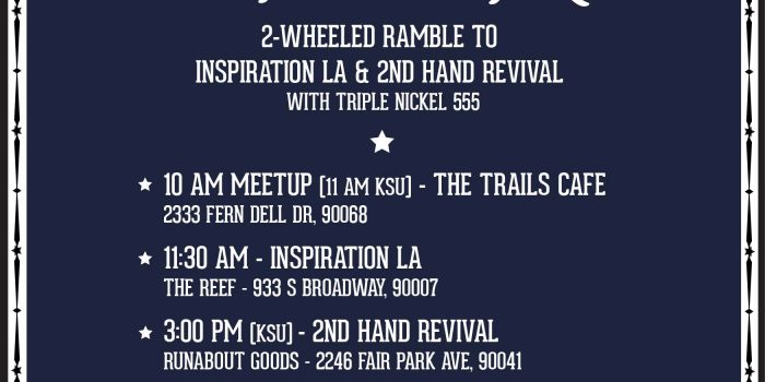 "Stacie B. London planning ""Inspiration LA Ride"" on sunny 2/10! Enjoy good ride, dude!!!"