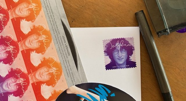 """John Lennon"" stamp for Inspiration 2019 Holiday Cards!"