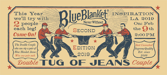 Tug of Jeans by Blue Blanket at 2pm 2/9!!