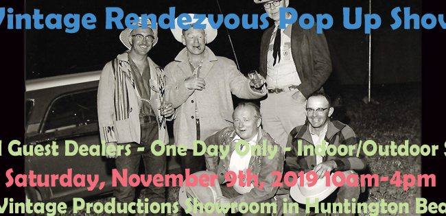 Vintage Rendezvous Pop Up Show on 11/9 10am-4pm!!